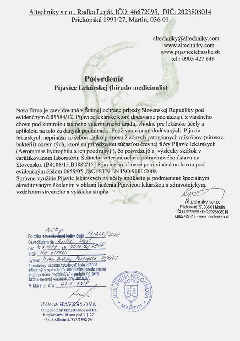 protokol o skúške pijavice 2