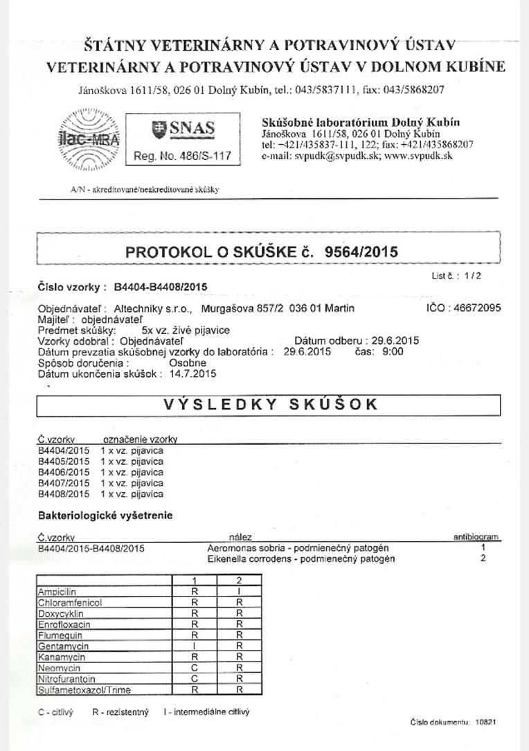 protokol o skúške pijavice